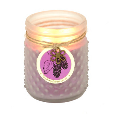 Very Berry Hobnail Jar Candle