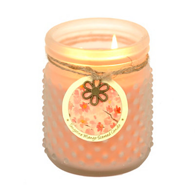 Tangerine Mango Hobnail Jar Candle