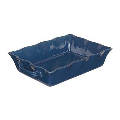 Blue Stoneware Baking Dish, 3.5 qts.