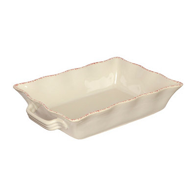 Cream Stoneware Baking Dish