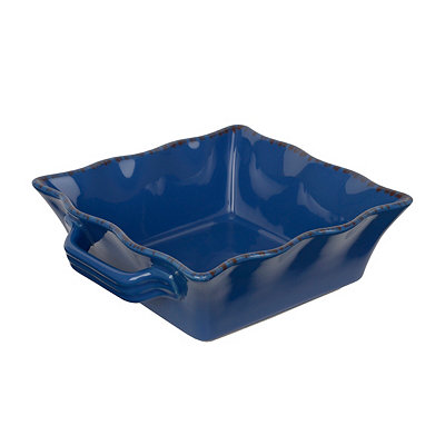 Blue Stoneware Baking Dish, 2 qts.