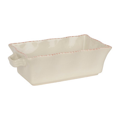 Cream Stoneware Loaf Pan