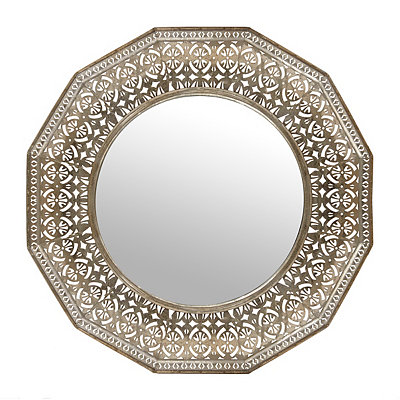 Silver Pearle Mirror, 28.5 in.