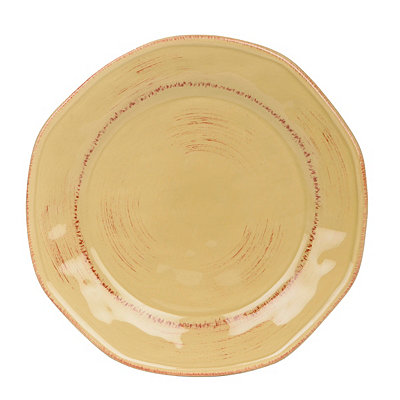 Tan Hammered Shades Dessert Plate