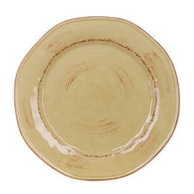 Tan Hammered Shades Dinner Plate