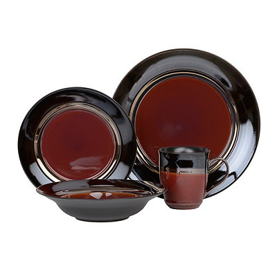 Burgundy Calypso Court 16-pc. Dinnerware Set