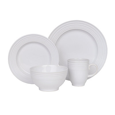 White Stanza 16-pc. Dinnerware Set