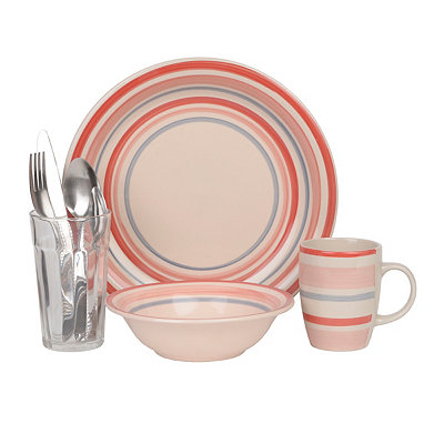 Red Banded Deluxe 32-pc. Dinnerware Set