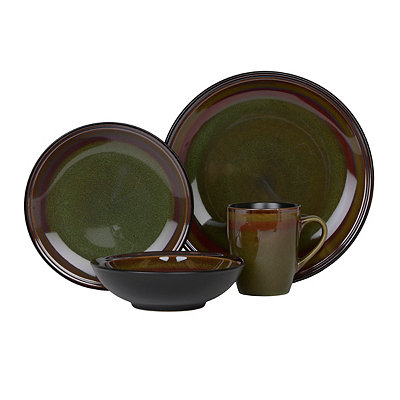 Green Tequesta 16-pc. Dinnerware Set