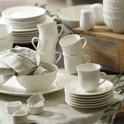 White Regalia 46-pc. Dinnerware Set