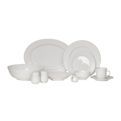 White Sarasota 46-pc. Dinnerware Set