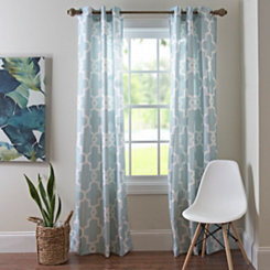 Aqua Maxwell Curtain Panel Set, 84 in.