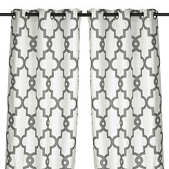 White Maxwell Curtain Panel Set, 84 in.