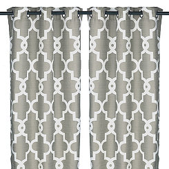 Gray Maxwell Curtain Panel Set, 84 in.