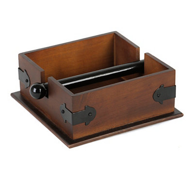 Wood and Metal Rustic Napkin Holder