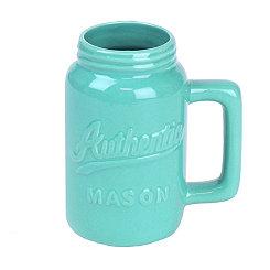 Turquoise Mason Jar Mug