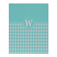 Turquoise Geometric Monogram W Corkboard
