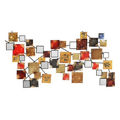Mirrored Abstract Metal Tile Plaque