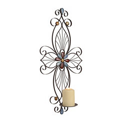 Olivia Stone Cross Sconce