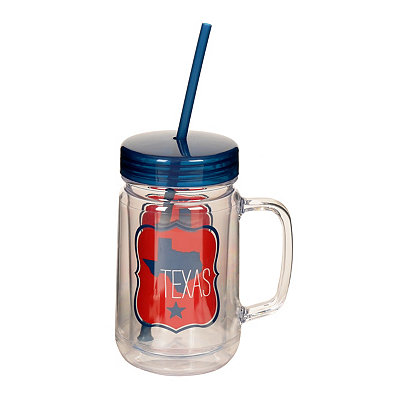 Texas Mason Jar Tumbler