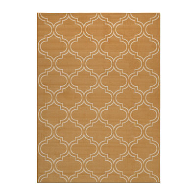 Yellow Geometric Brentwood Area Rug, 5x7