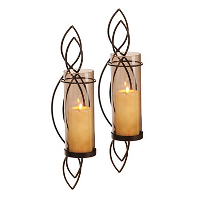 Mocha Twist Sconces, Set of 2