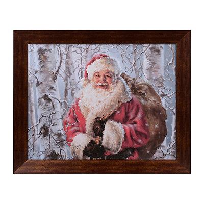 Joyful Santa Framed Art Print