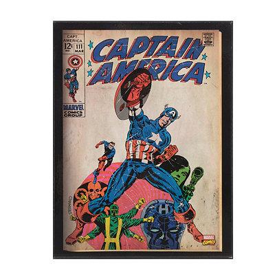 Classic Captain America Wooden Plaque