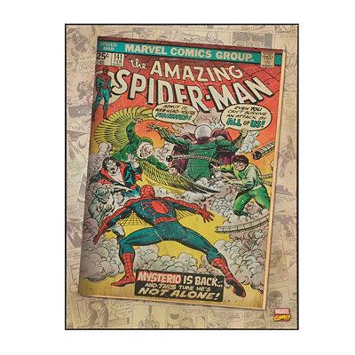 Spider-Man & Mysterio Wooden Plaque