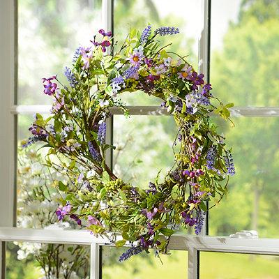 Purple Daisy Wreath