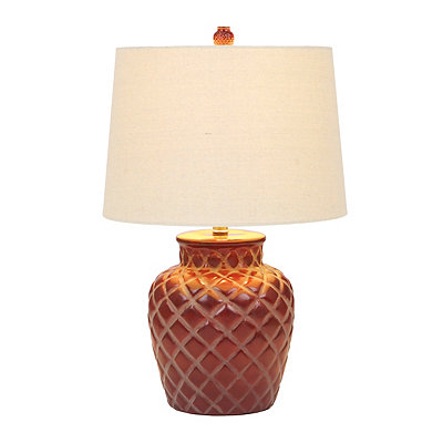 Red Diamond Ceramic Table Lamp