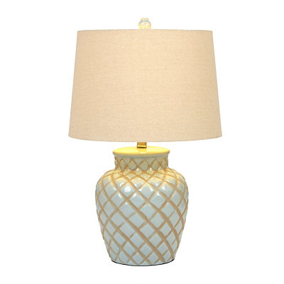 Blue Diamond Ceramic Table Lamp