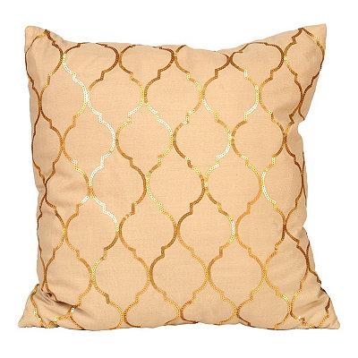 Metallic Gold Moroccan Sequin Pillow