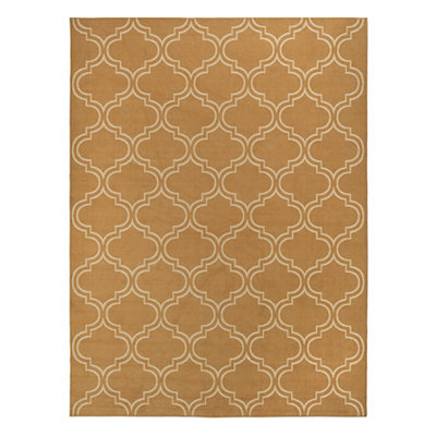 Yellow Geometric Brentwood Area Rug, 7x9