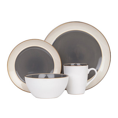 Gray Amberwood 16-pc. Dinnerware Set