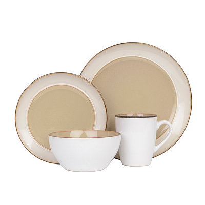 Taupe Amberwood 16-pc. Dinnerware Set