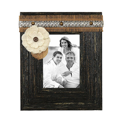 Black Distressed Sadie Picture Frame, 5x7