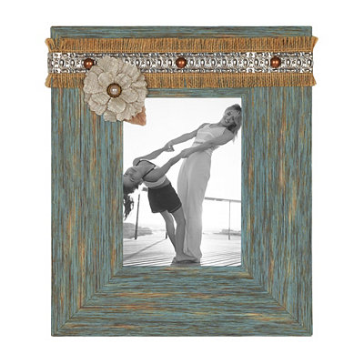 Aqua Distressed Sadie Picture Frame, 5x7