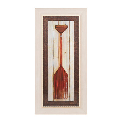 Distressed Red Paddle Framed Art Print