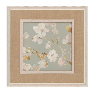 White Magnolia Blossoms II Framed Art Print