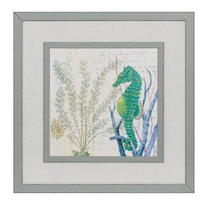 Oceania Seahorse Framed Art Print