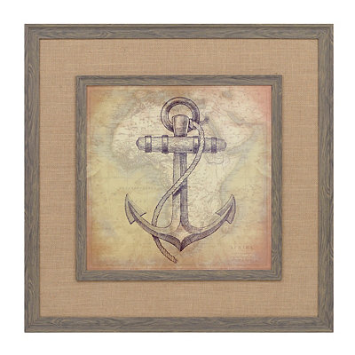 Indigo Anchor Framed Art Print