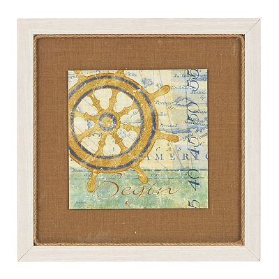 Captain's Wheel Framed Art Print