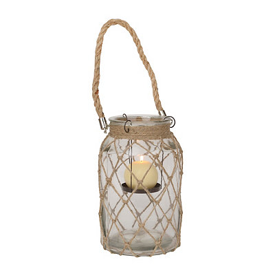 Netted Clear Glass Lantern