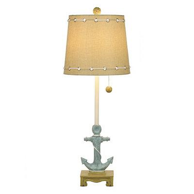 Blue Anchor Buffet Lamp