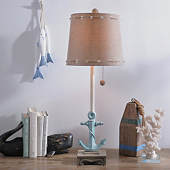Blue Anchor Buffet Lamp