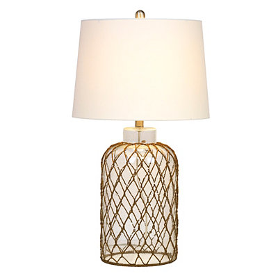 Netted Glass Table Lamp