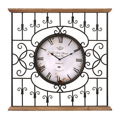 Metal Garden Gate Clock