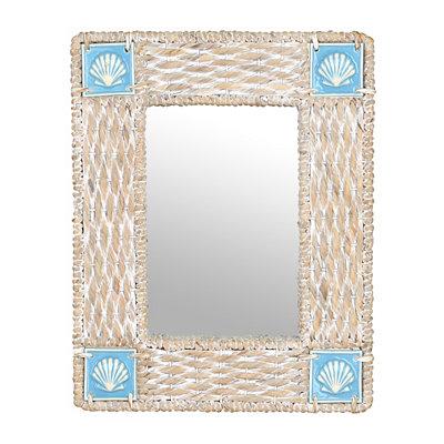 Coastal Whitewash Framed Mirror, 22x28