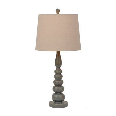 Inlet Blue and Gold Metallic Table Lamp